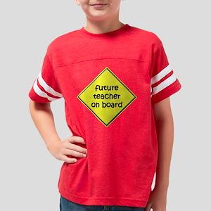 Future Teacher on Board Youth Football Shirt