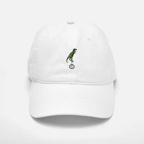 T-rex Riding Unicycle Baseball Baseball Cap