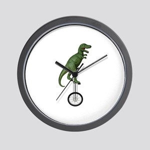 T-rex Riding Unicycle Wall Clock
