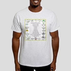 printed both sides,  Ash Grey T-Shirt