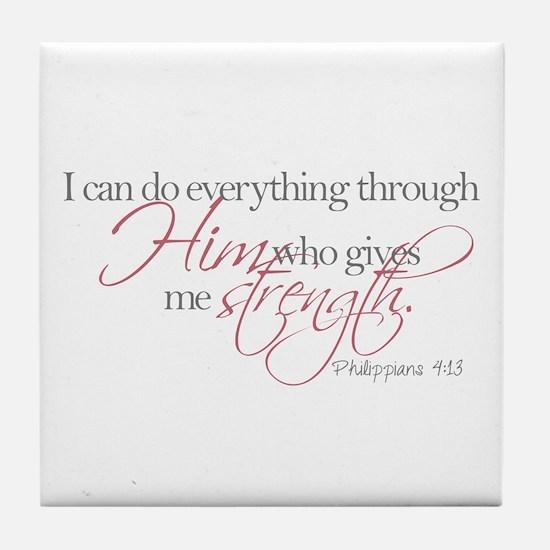 Cute Bible verse Tile Coaster