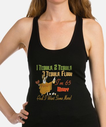 Tequila Birthday 65.png Racerback Tank Top