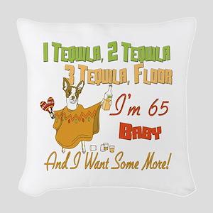 Tequila Birthday 65 Woven Throw Pillow