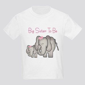 Big Sister to Be (Elephants) Kids Light T-Shirt
