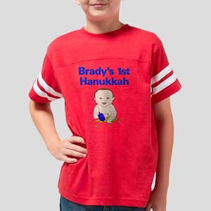 Bradys 1st Hanukkah Dreidel B Youth Football Shirt
