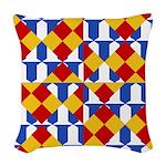 Six Bored Heralds Woven Throw Pillow