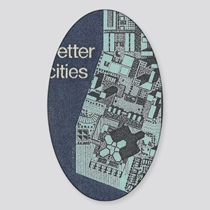 City Stamp Sticker (Oval)