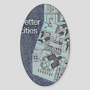 City Stamp Sticker (Oval)