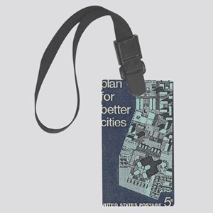 City Stamp Large Luggage Tag