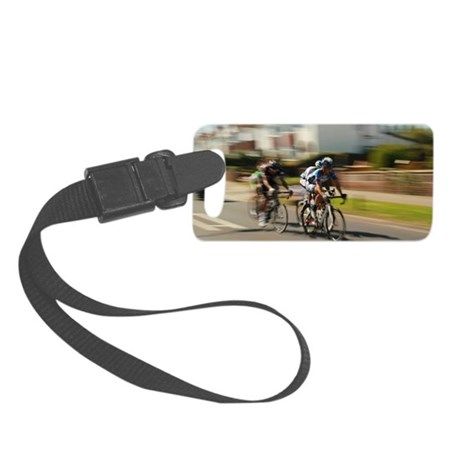 Cyclists In Lowestoft Small Luggage Tag