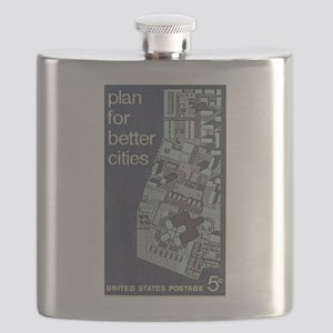 City Stamp Flask