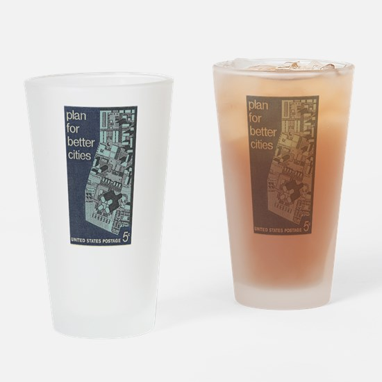 City Stamp Drinking Glass