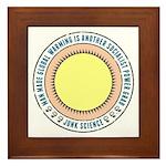 Junk Science Power Grab Framed Tile