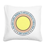 Junk Science Power Grab Square Canvas Pillow