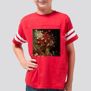 Van Gogh Flowers Youth Football Shirt