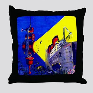 Electric Submarine Camera Throw Pillow