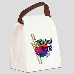Trombone Rocks Canvas Lunch Bag