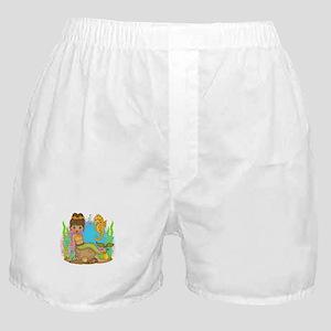Surfin Girl Owl Boxer Shorts