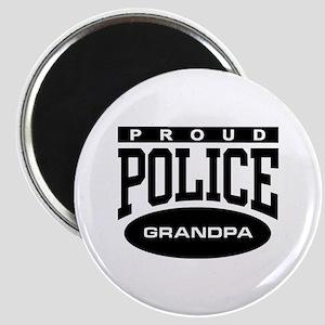 Proud Police Grandpa Magnet