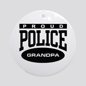 Proud Police Grandpa Ornament (Round)
