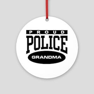Proud Police Grandma Ornament (Round)
