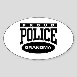 Proud Police Grandma Oval Sticker