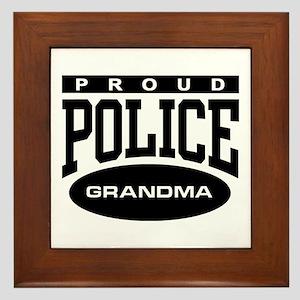 Proud Police Grandma Framed Tile