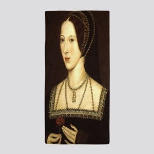 Anne Boleyn Beach Towel