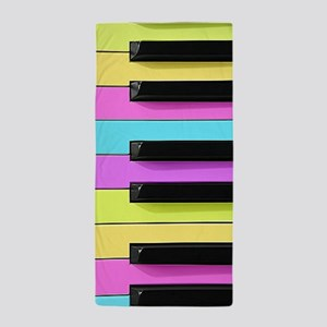 Piano Keys Neon Beach Towel