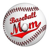 Baseball mom Round Car Magnets