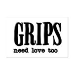 Grips Need Love, too Mini Poster Print