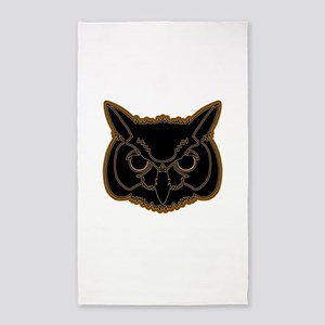 owl head 01 3'x5' Area Rug