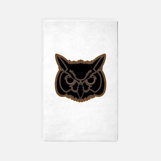 owl head 01 3'x5' Area Rug