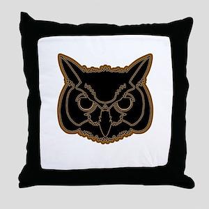 owl head 01 Throw Pillow