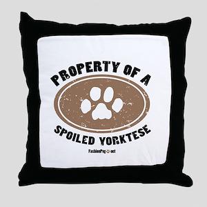 Yorktese dog Throw Pillow