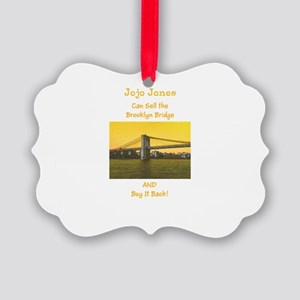 Custom Realtor Agent Sells All Picture Ornament