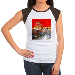 Sea-Going Ferris Wheel Women's Cap Sleeve T-Shirt