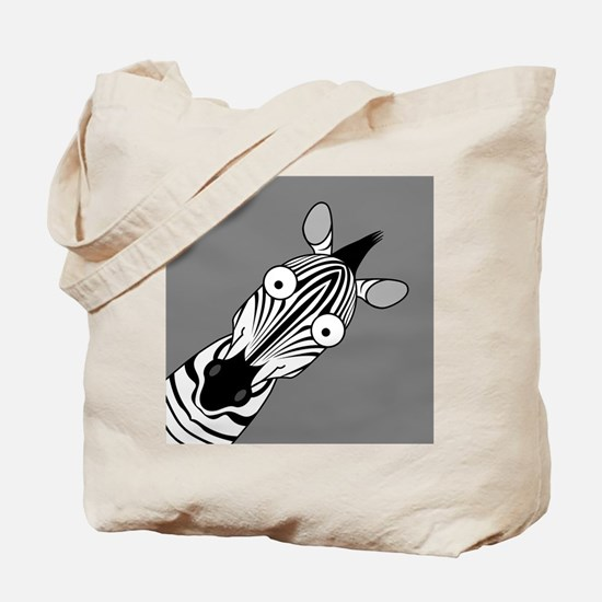 Happy Zebra Tote Bag