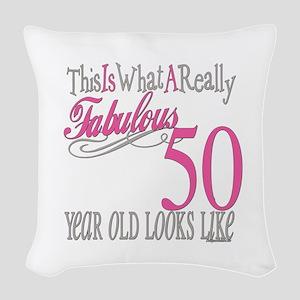 Fabulous 50yearold Woven Throw Pillow