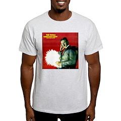 Tesla Wireless Light Ash Grey T-Shirt