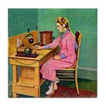 The Wireless Girl Tile Coaster