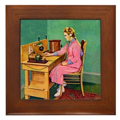 The Wireless Girl Framed Tile