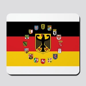 German Flag with State Arms Mousepad