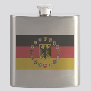 German Flag with State Arms Flask