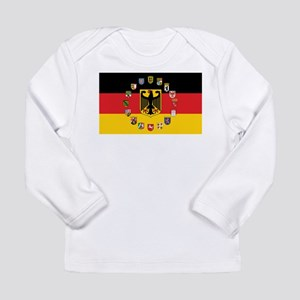 German Flag with State Arms Long Sleeve T-Shirt