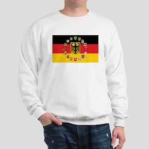 German Flag with State Arms Sweatshirt
