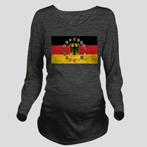 German Flag with State Arms Long Sleeve Maternity