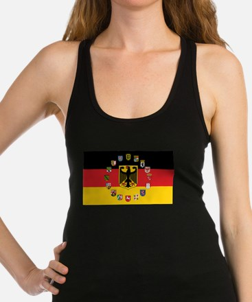 German Flag with State Arms Racerback Tank Top