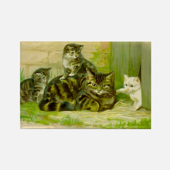 Vintage Cat and Kittens Magnets