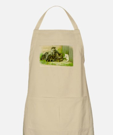 Vintage Cat and Kittens Apron